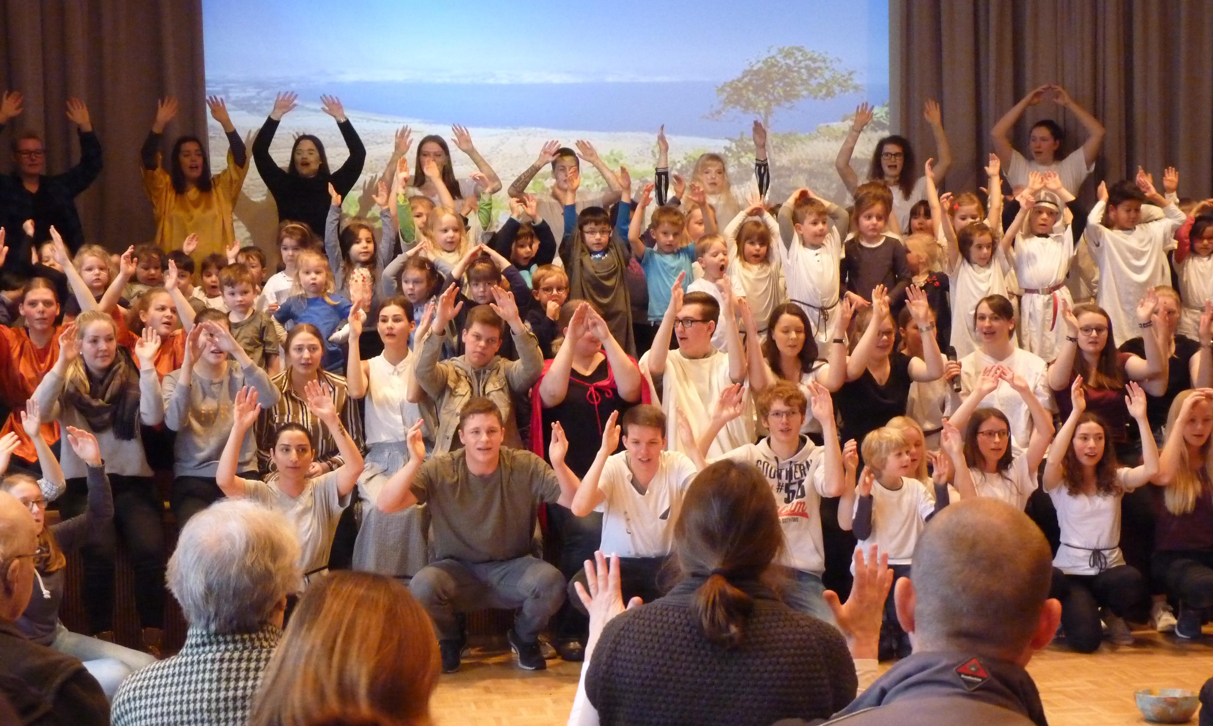 Musicalaufführung zum Ende der Projektwoche der BFS U's
